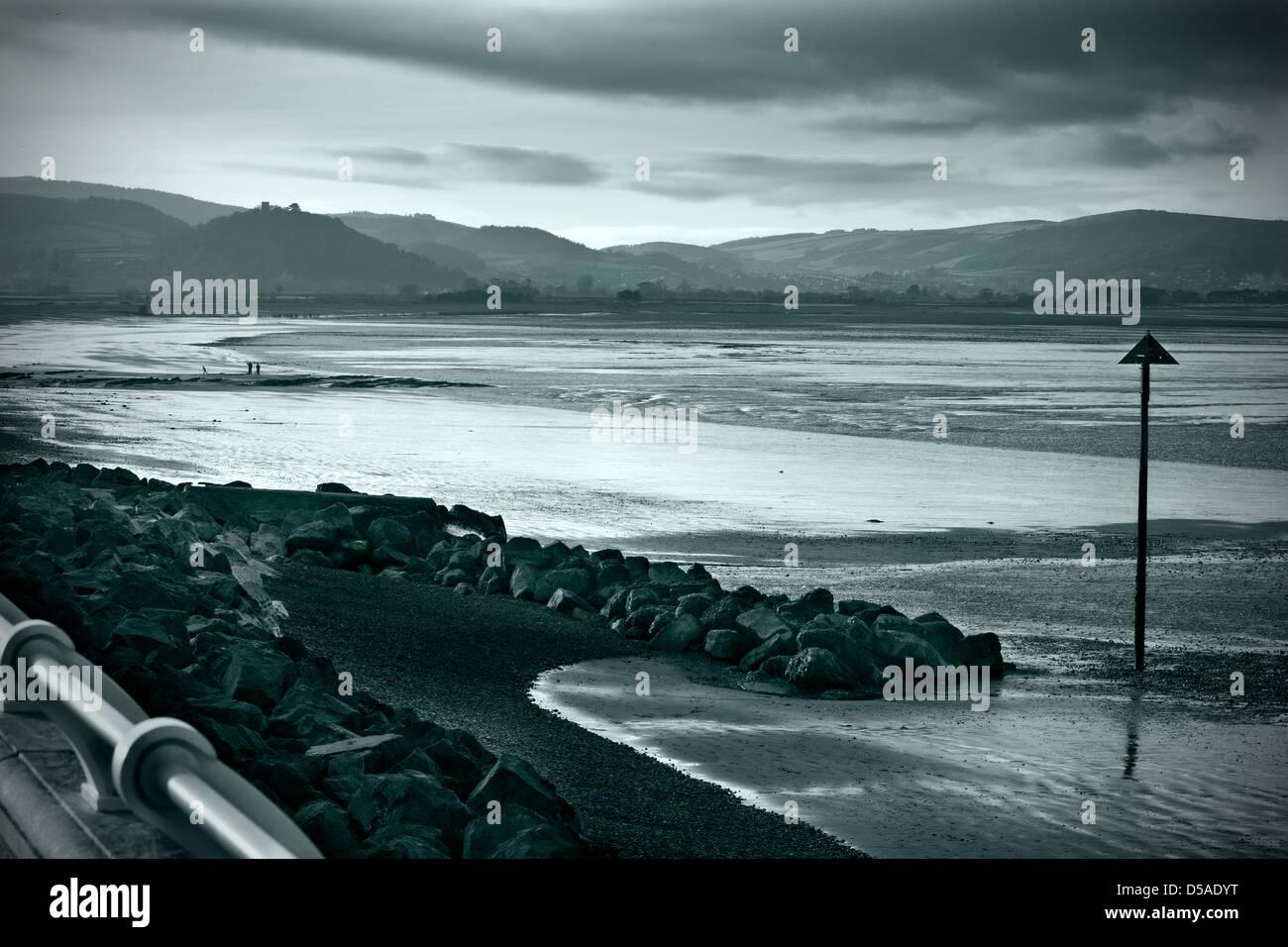 Split paesaggio tono colpo di Blue Anchor Bay Foto Stock