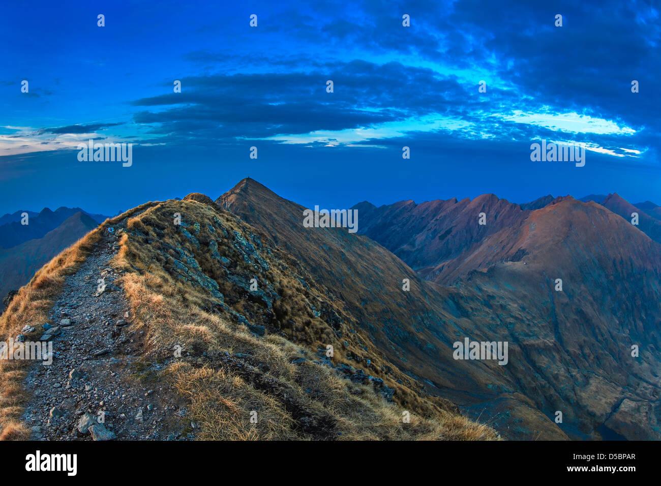 Monti Fagaras, Carpazi Meridionali Immagini Stock