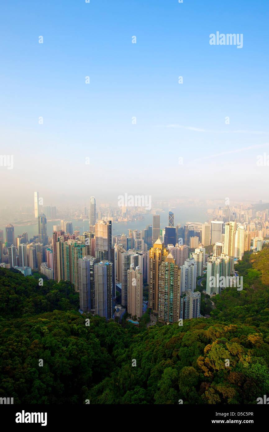 Honk Kong Skyline Immagini Stock