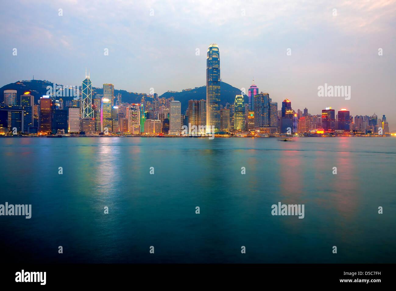 Skyline di Hong Kong Immagini Stock