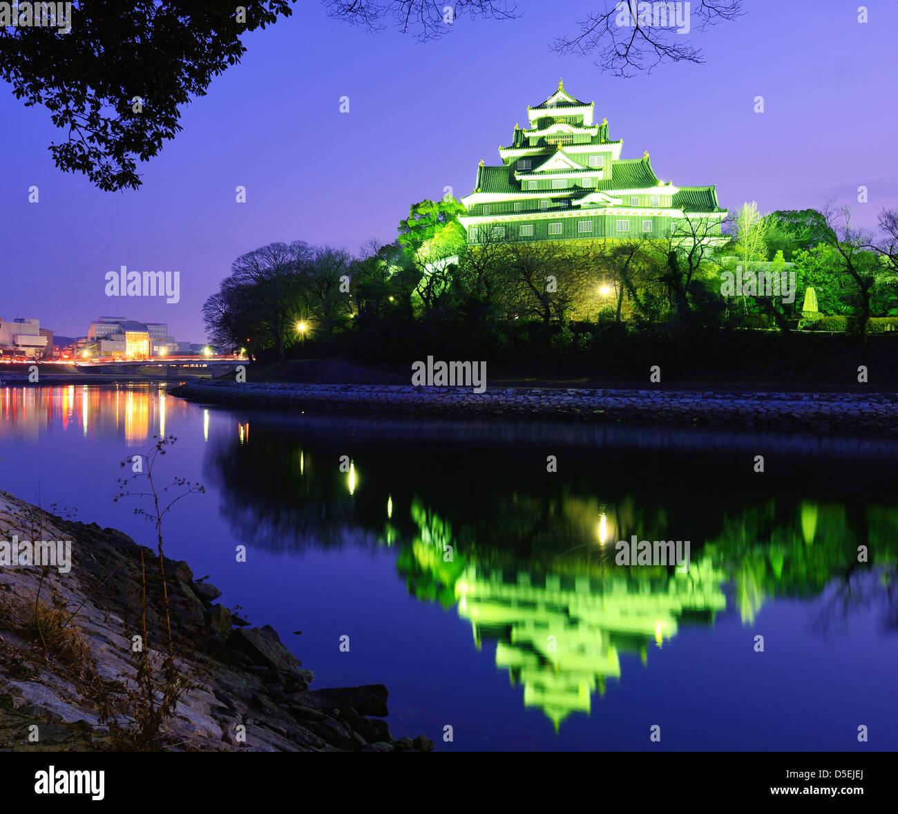 Castello di Okayama di Okayama Giappone. Immagini Stock