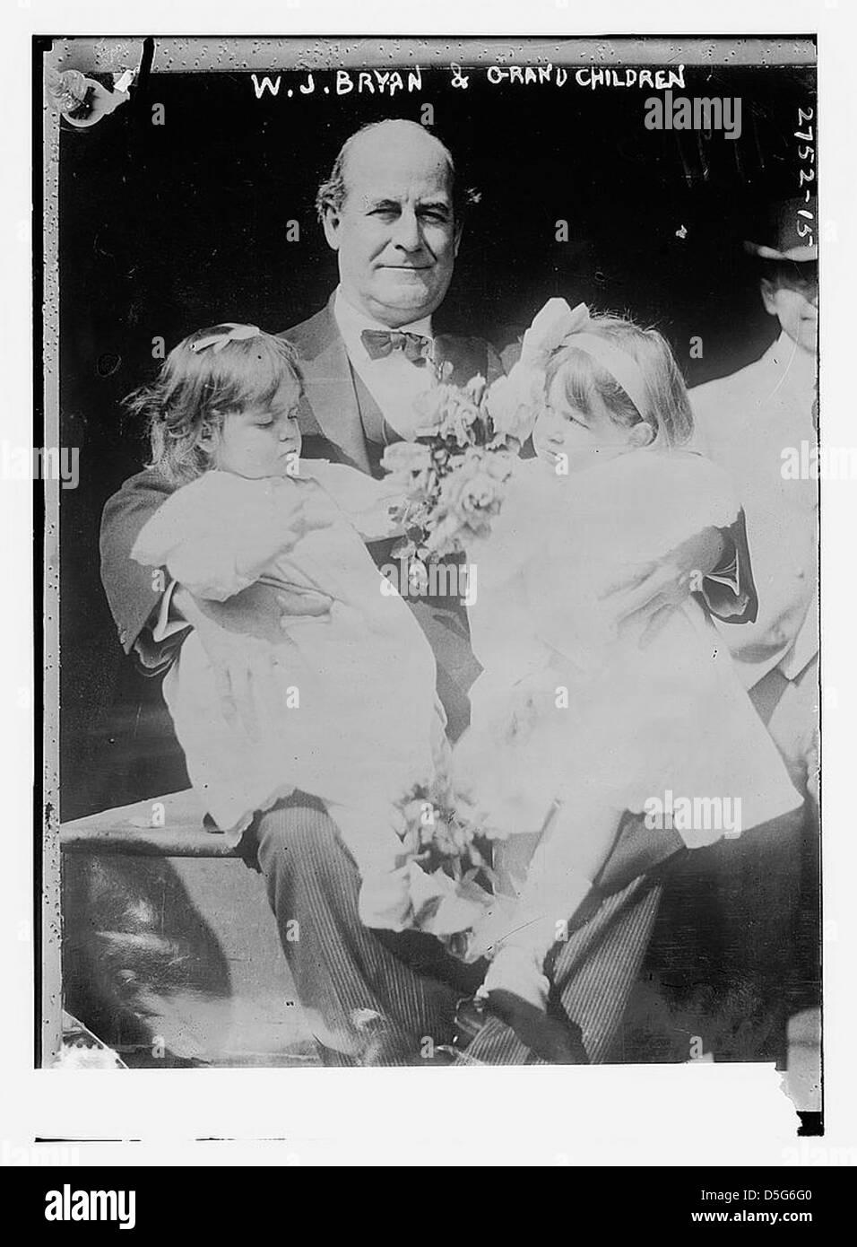 W.J. Bryan & grand bambini (LOC) Immagini Stock