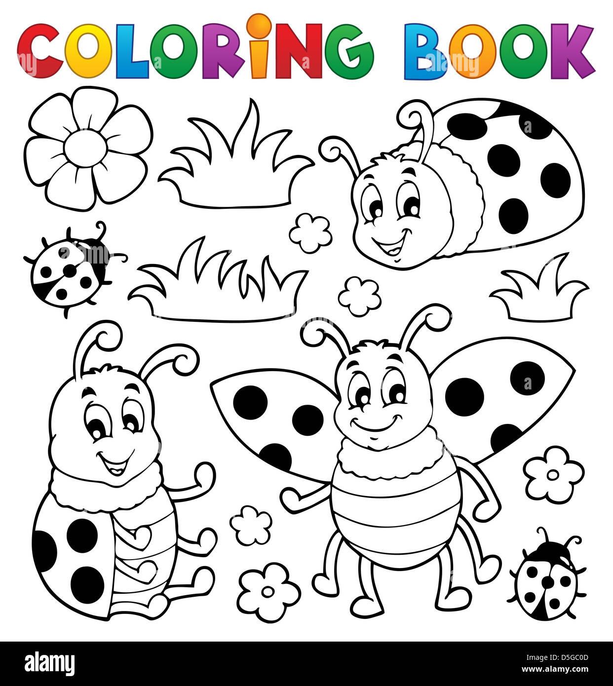 Libro Da Colorare Coccinella Tema 1 Foto Illustrazione Foto