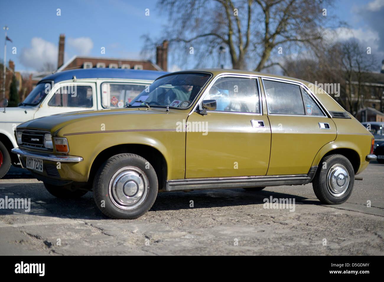Austin Allegro auto classica degli anni settanta Immagini Stock