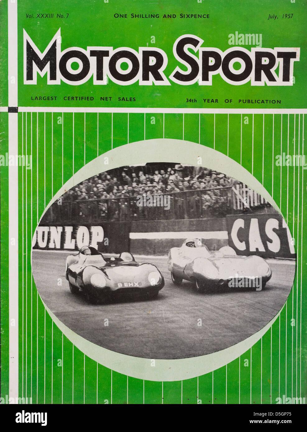 Motor Sport magazine n. 7, Vol XXXIII, Luglio 1957 Immagini Stock