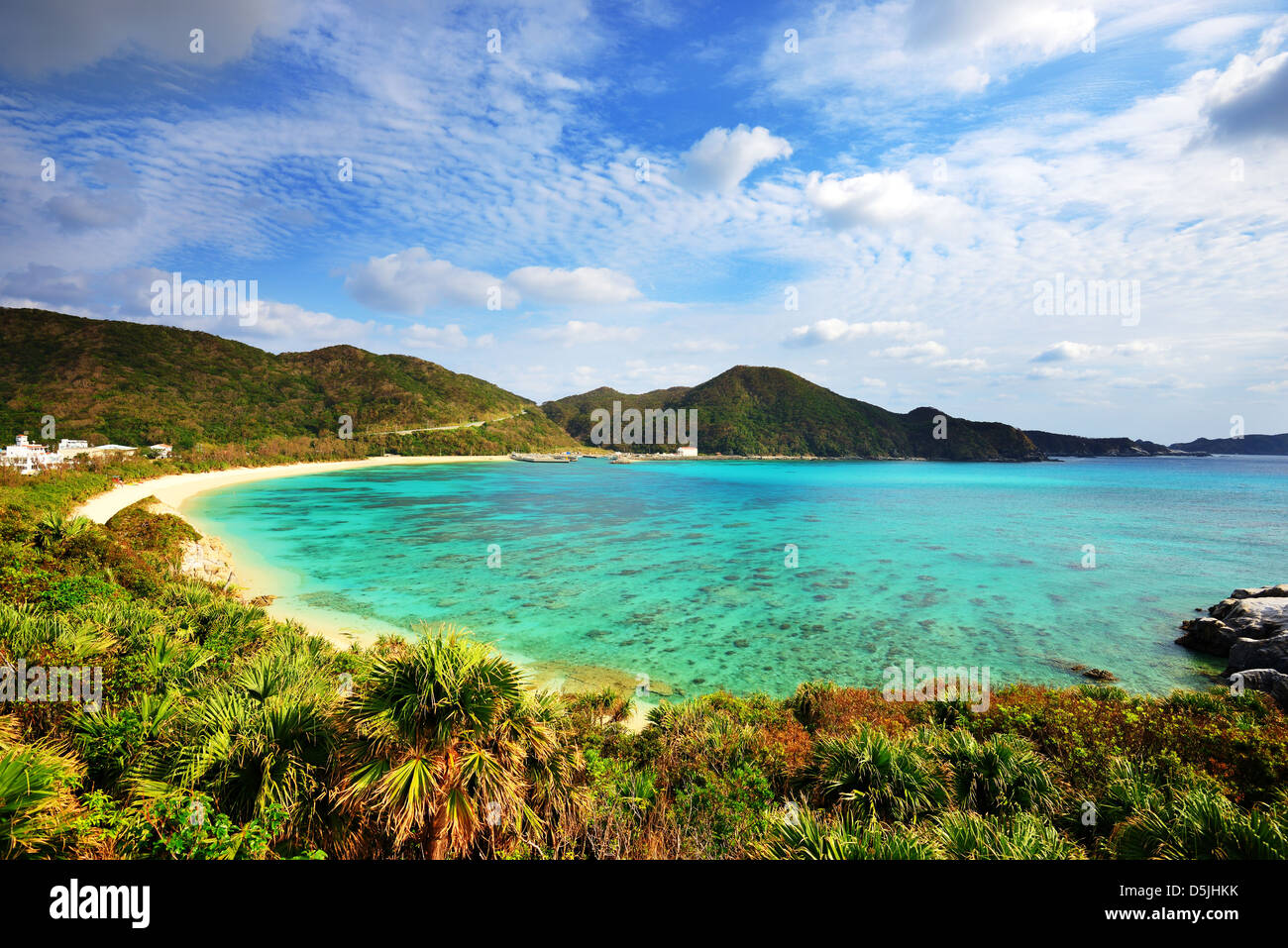 Aharen Beach sull'isola di Tokashiki a Okinawa, Giappone. Immagini Stock