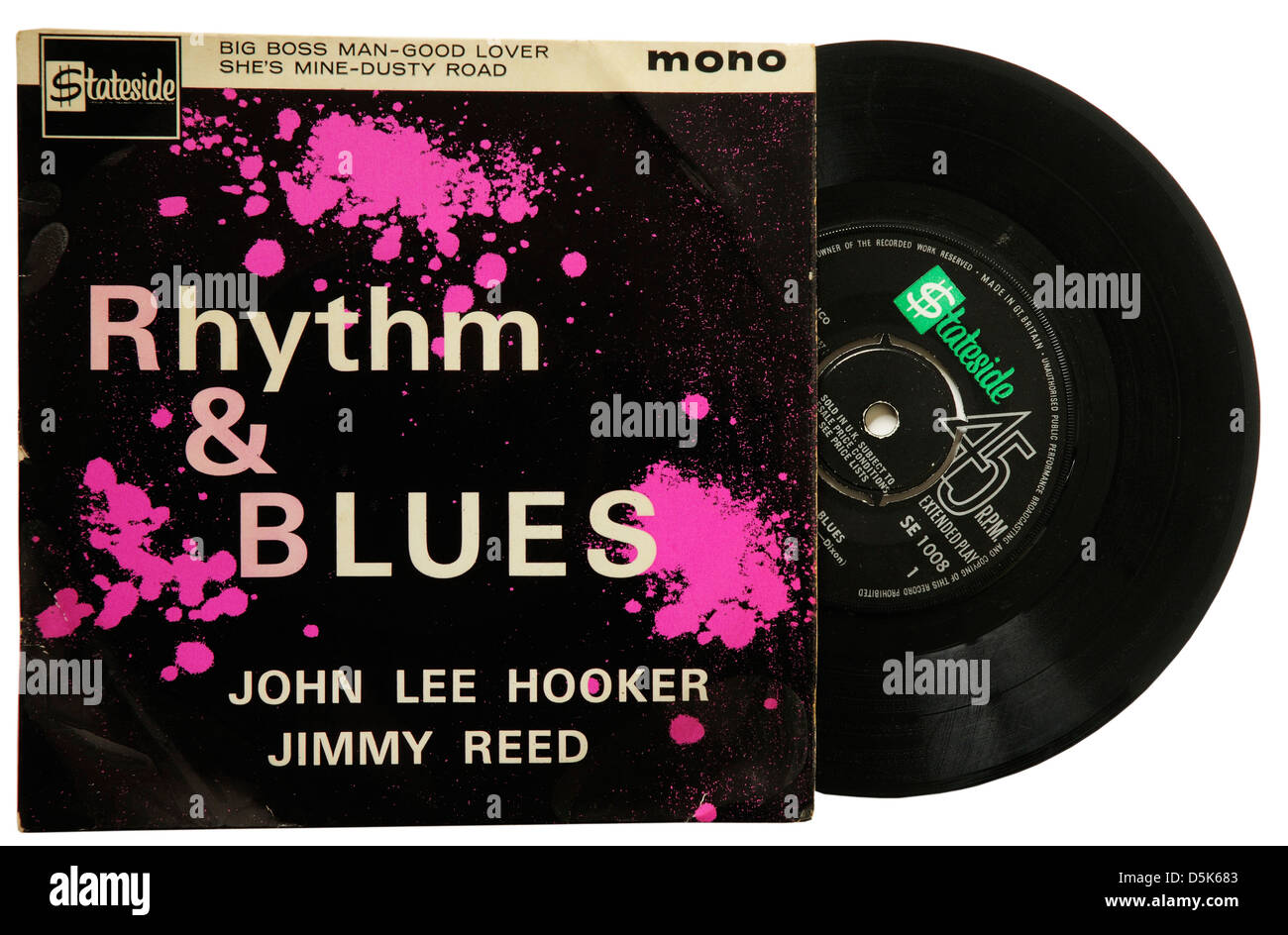 John Lee Hooker & Jimmy Reed Rhythm and Blues EP Immagini Stock