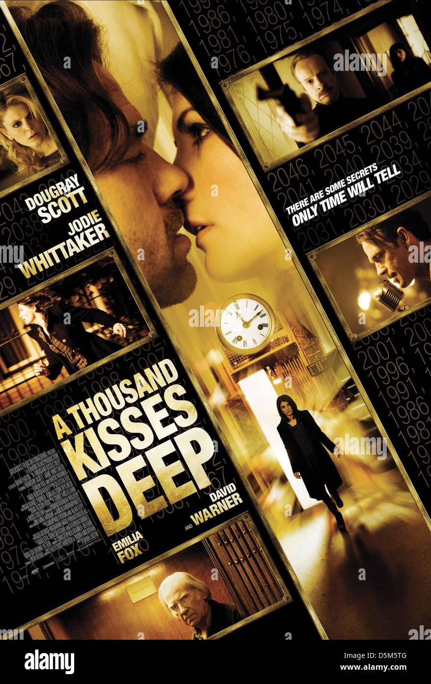 POSTER del filmato un migliaio di baci profondi (2011) Immagini Stock