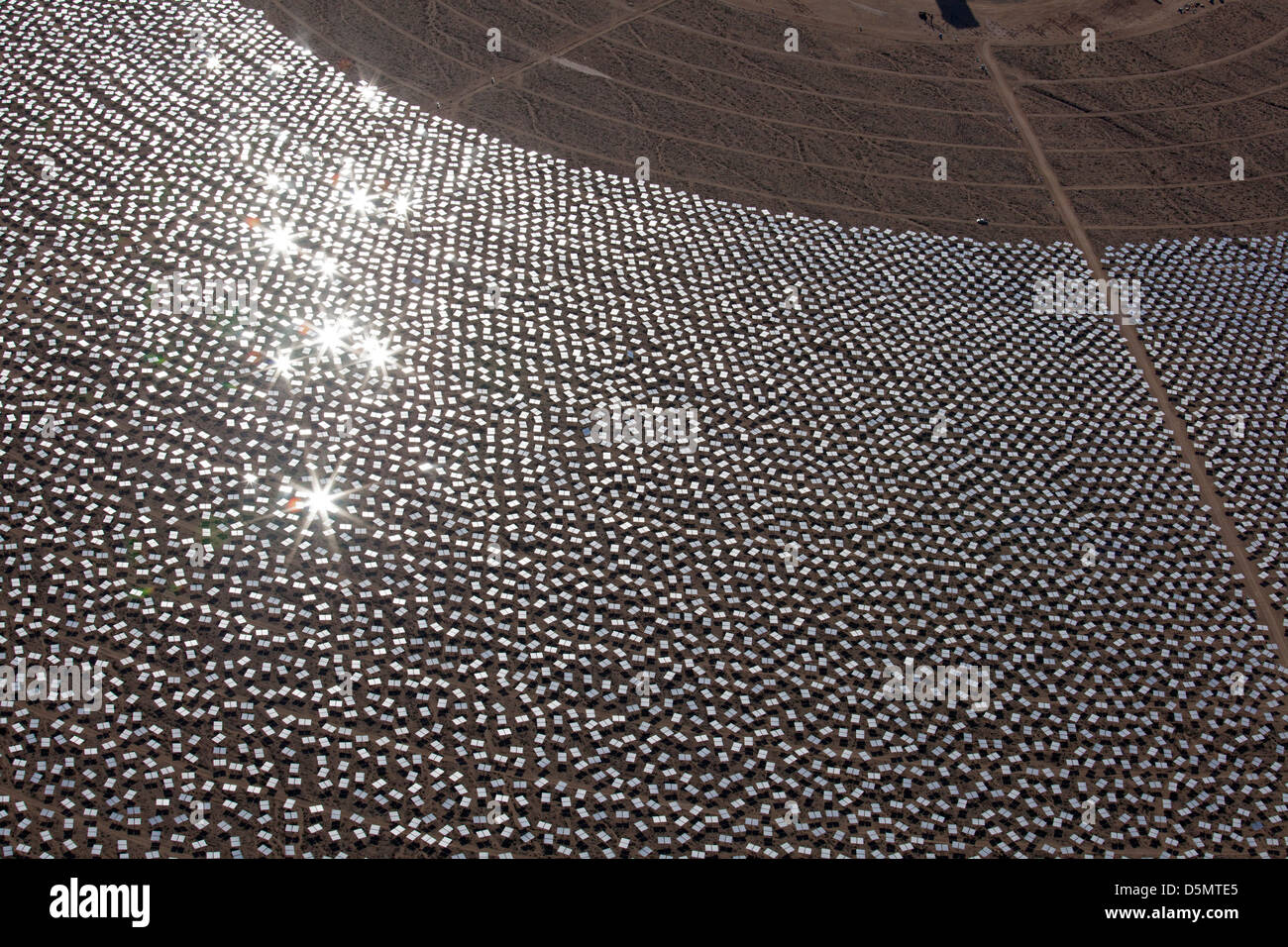 Ivanpah Solar Project Immagini Stock