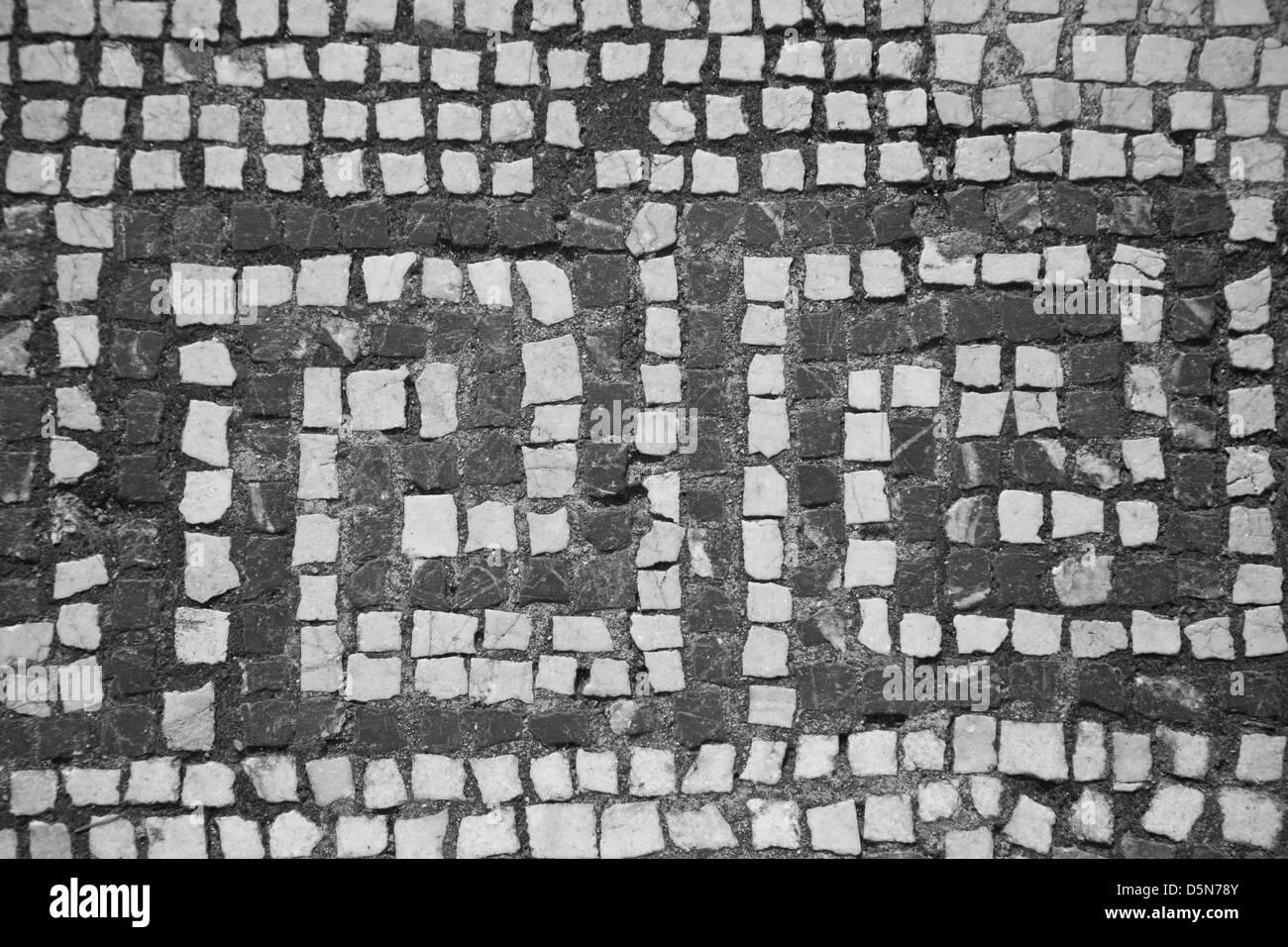 Texture in pietra piastrelle mosaico astratto del modello di