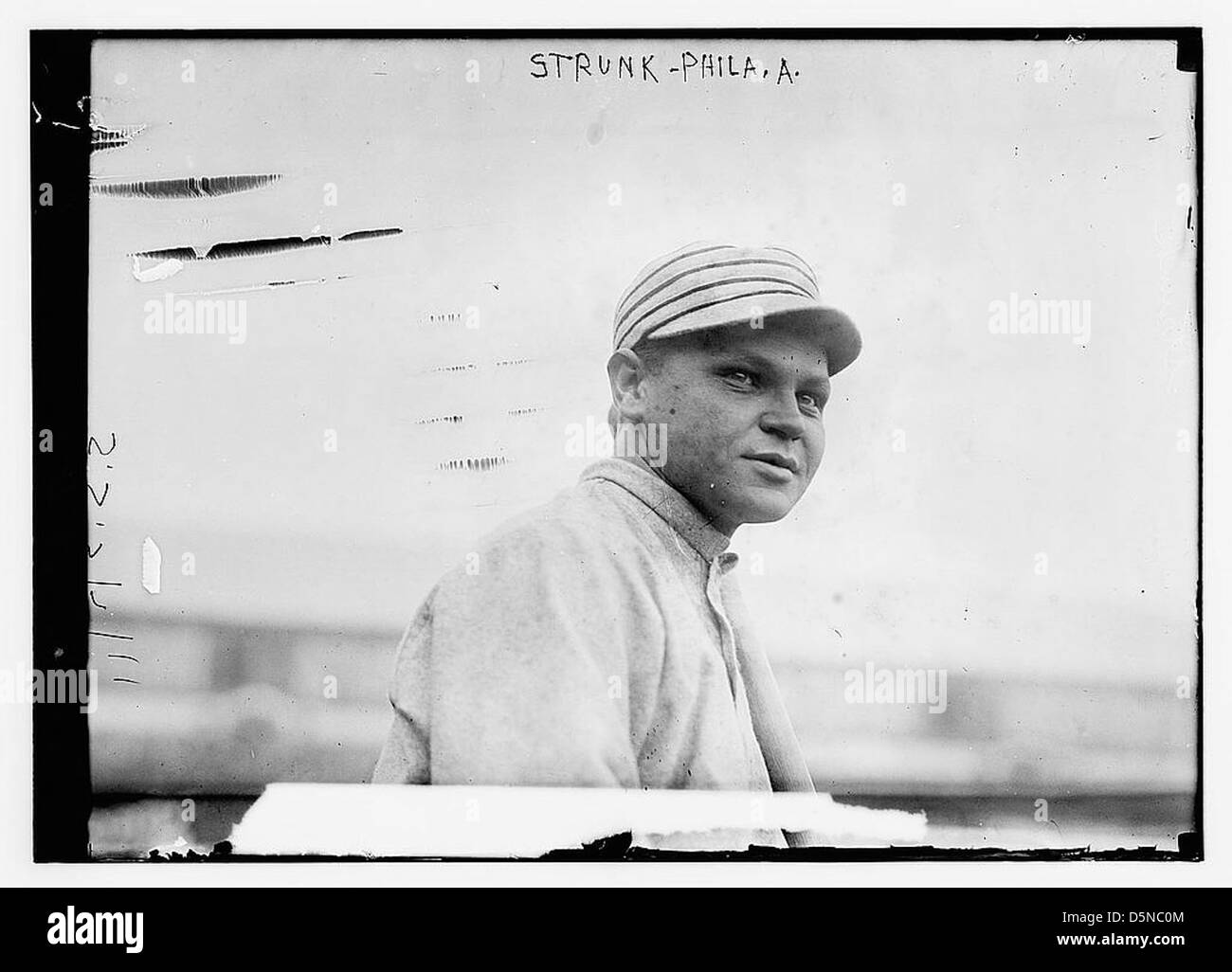 [Amos Strunk, Philadelphia, AL (baseball)] (LOC) Immagini Stock