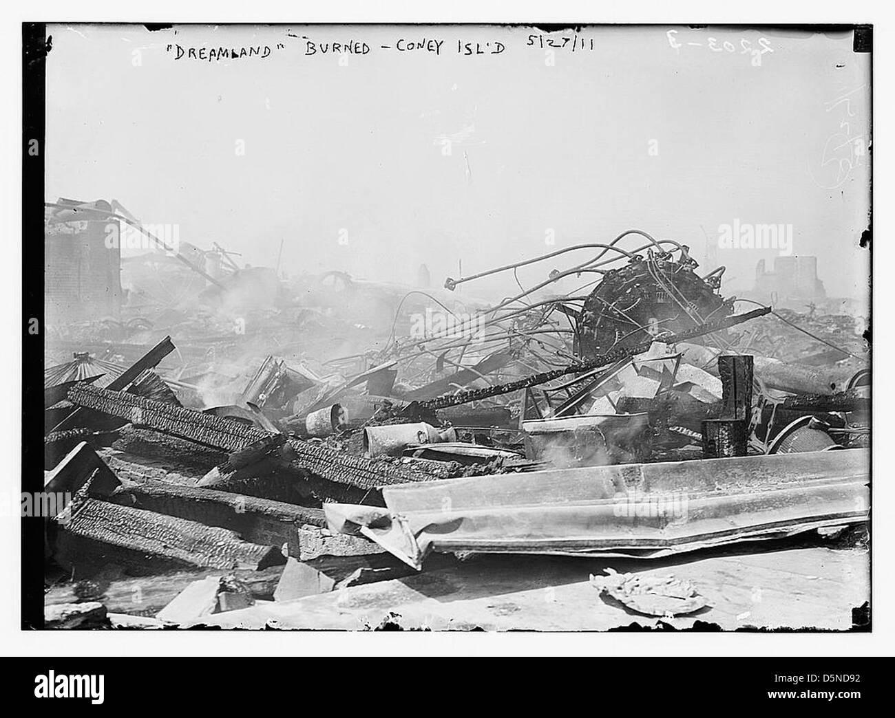 'Dreamland' bruciato, Coney Island, 5/27/11 (LOC) Immagini Stock