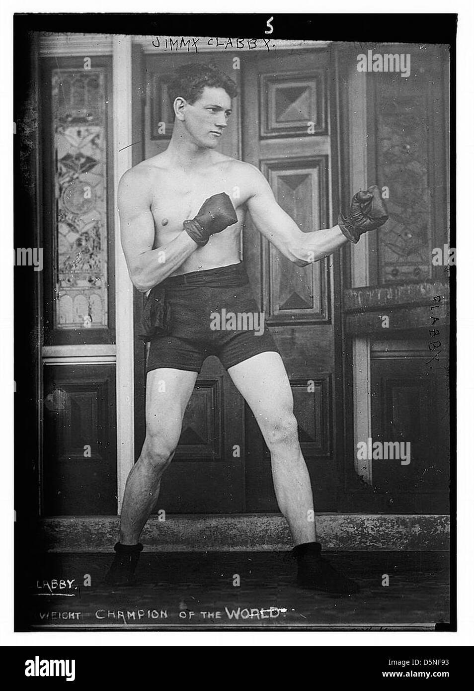 Jimmy Clabby. Il pugilato (LOC) Immagini Stock