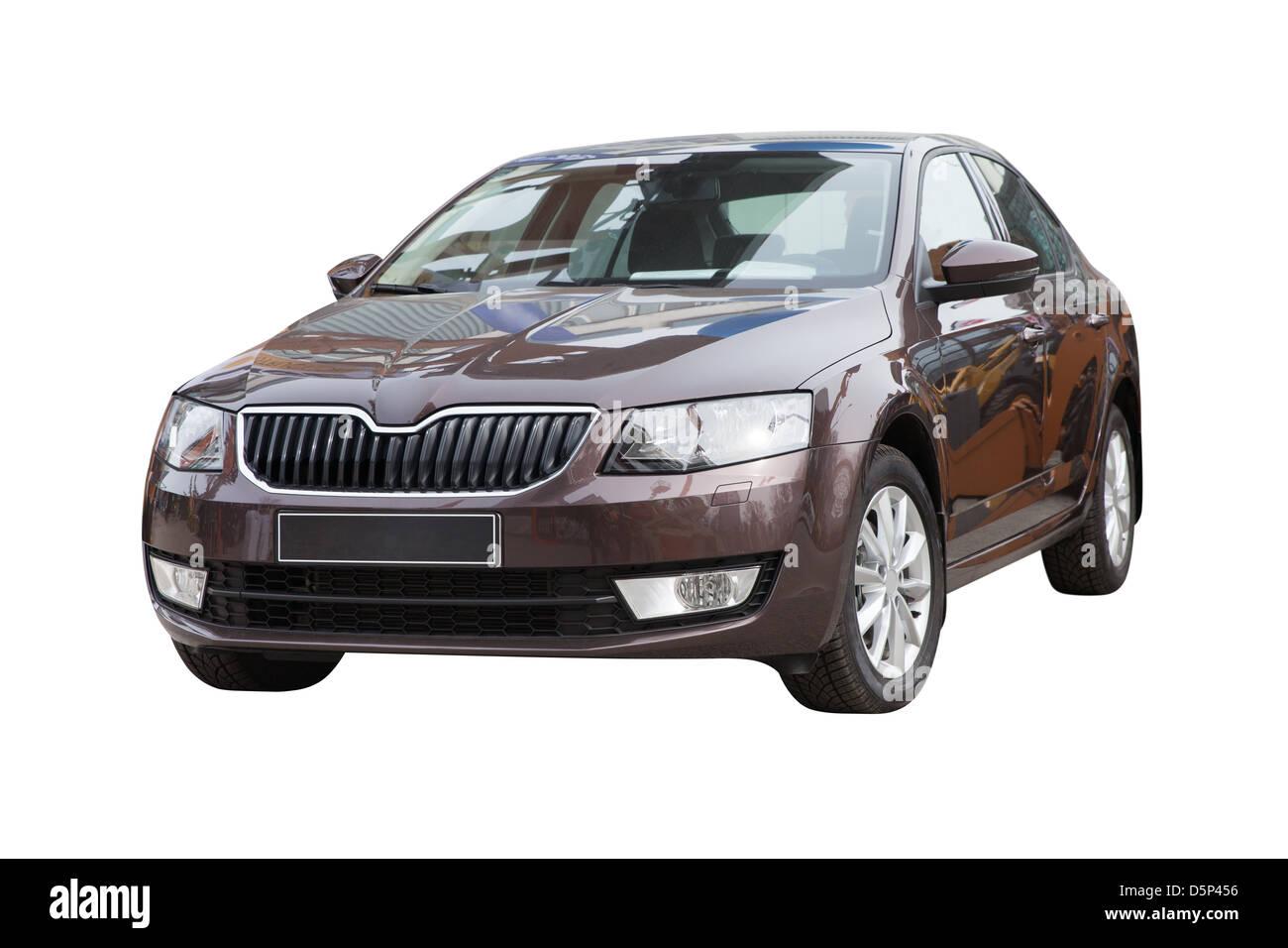 Lato anteriore del moderno di medie dimensioni per auto di famiglia (2013) Immagini Stock
