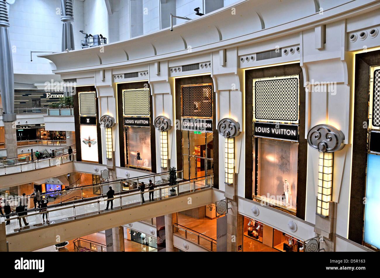 Louis Vuitton boutique nel centro commerciale di 101 tower Taipei Taiwan Immagini Stock