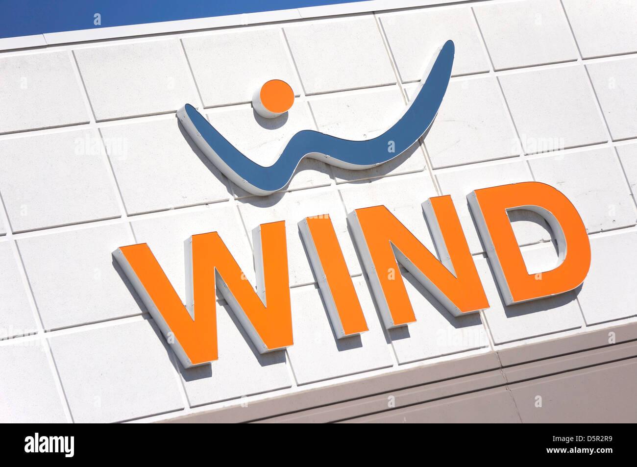 Vento, Mobile wireless provider di telecomunicazioni, Canada Immagini Stock