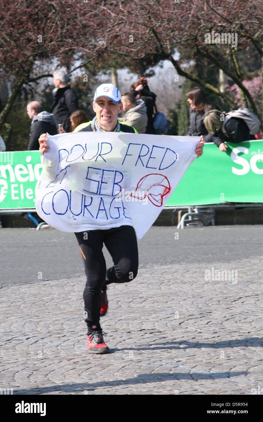 Corridore di maratona Immagini Stock