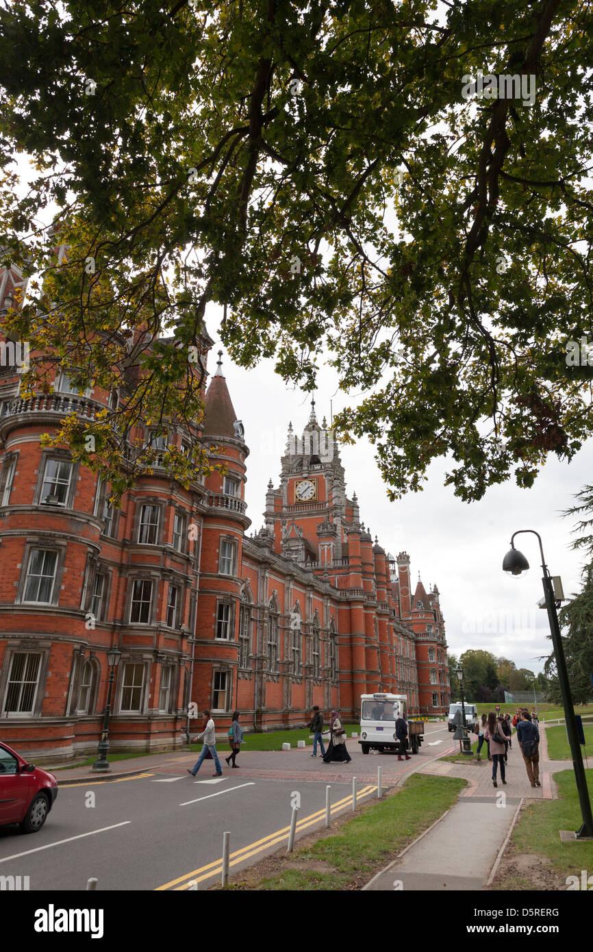 Royal Holloway University esterna (parte dell università di Londra) Immagini Stock