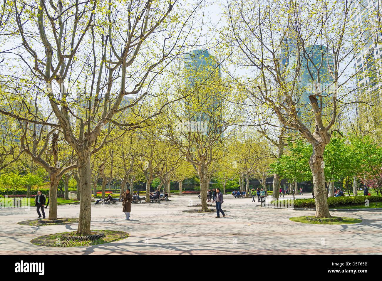 Vista del centro di Shanghai in Cina Immagini Stock
