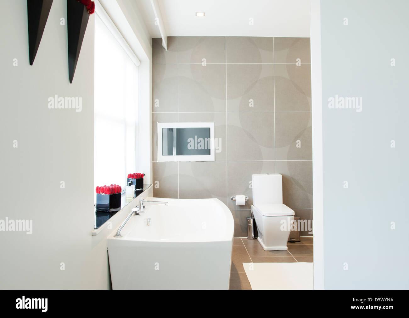 Wc E Lavandino In Bagno Moderno Foto Immagine Stock 55274950 Alamy