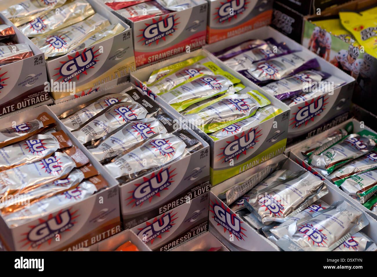 Supplementi nutrizionali sul display Immagini Stock