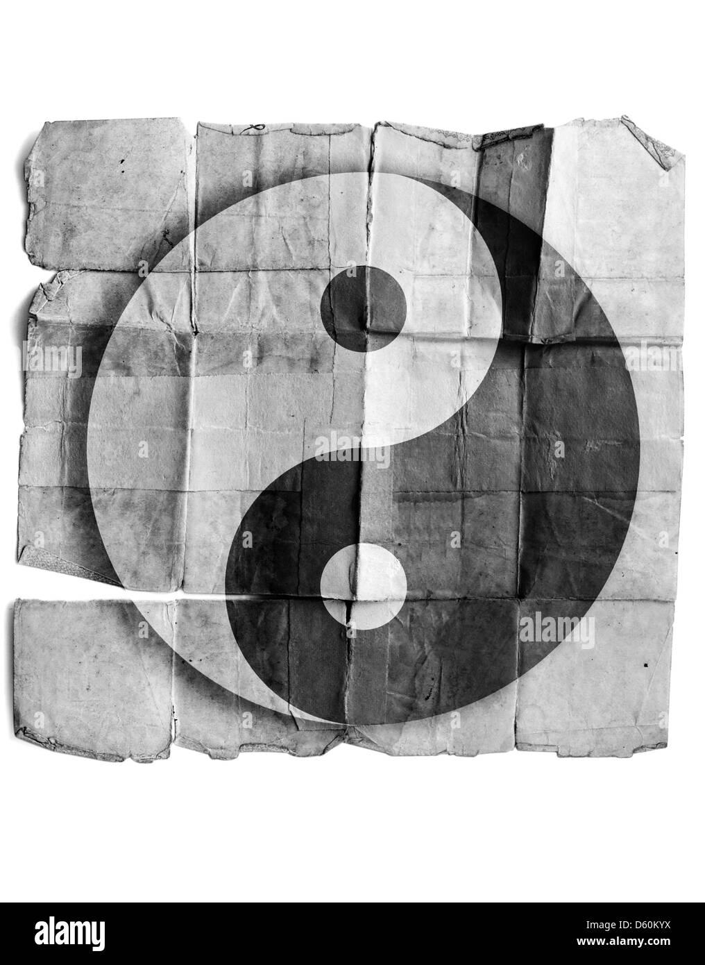Ying yang simbolo Immagini Stock