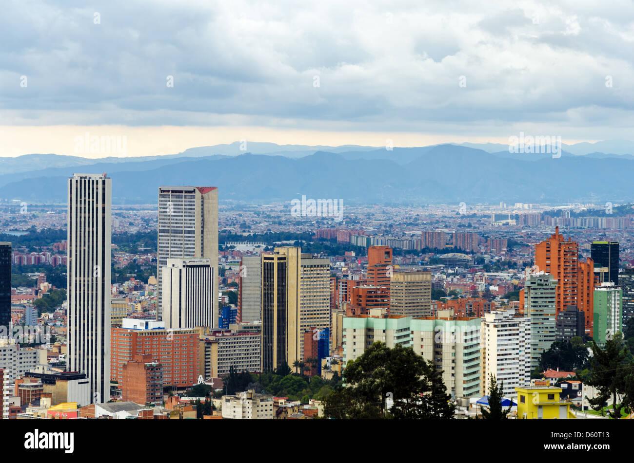 Veduta dello skyline di Bogotà, Colombia Immagini Stock