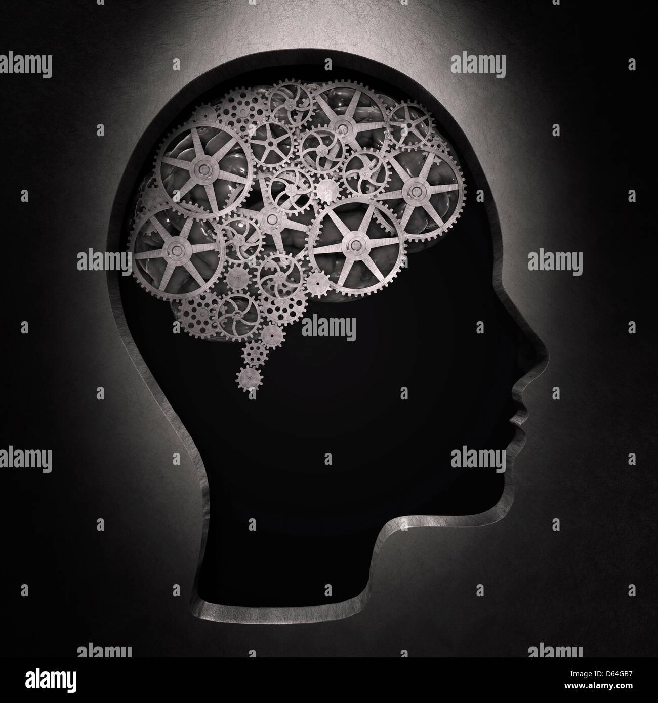 Processi di pensiero, opere d'arte concettuale Immagini Stock