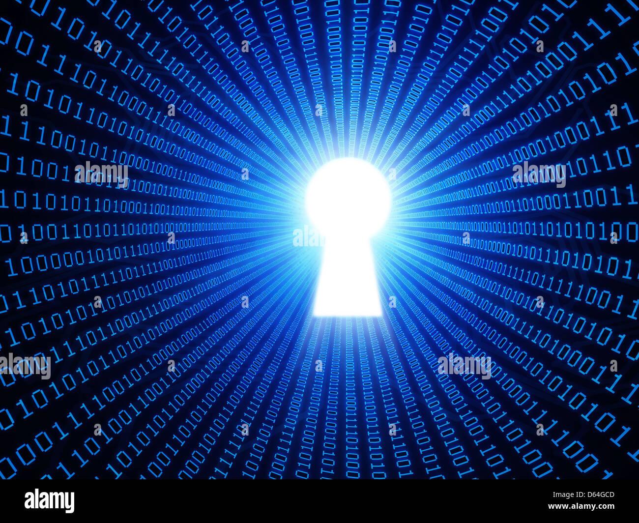 La sicurezza dei dati, opere d'arte concettuale Immagini Stock