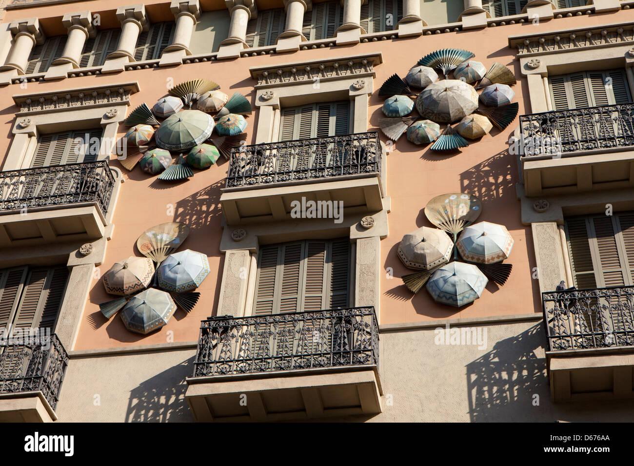 Ramblas di Barcellona, Spagna Immagini Stock