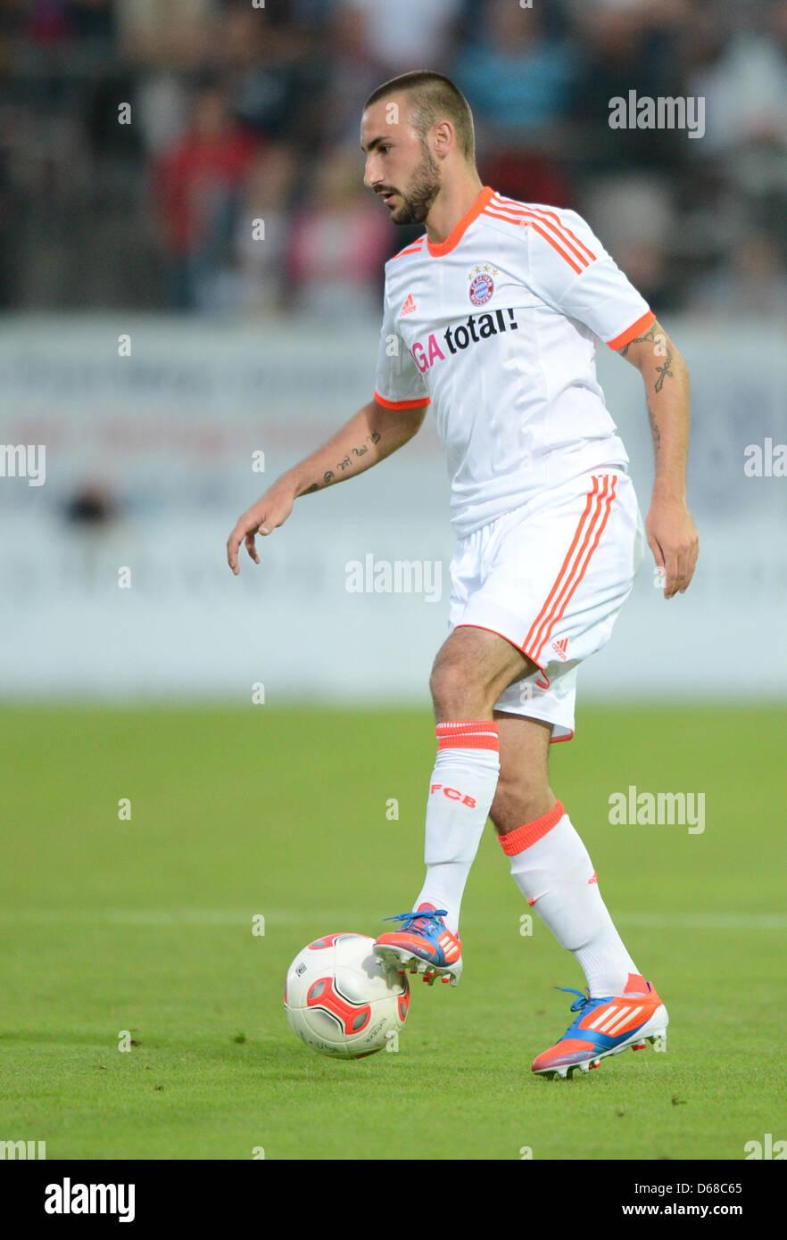 Monaco di Baviera Diego è contento gioca la palla durante il soccer test match tra SpVgg Unterhaching e FC Immagini Stock