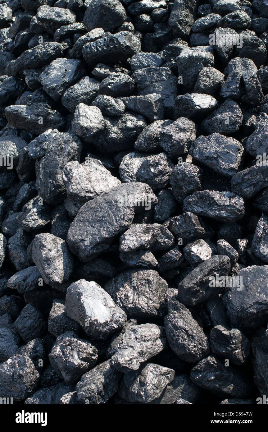 Cumulo di carbone il museo Beamish North East England Regno Unito Immagini Stock