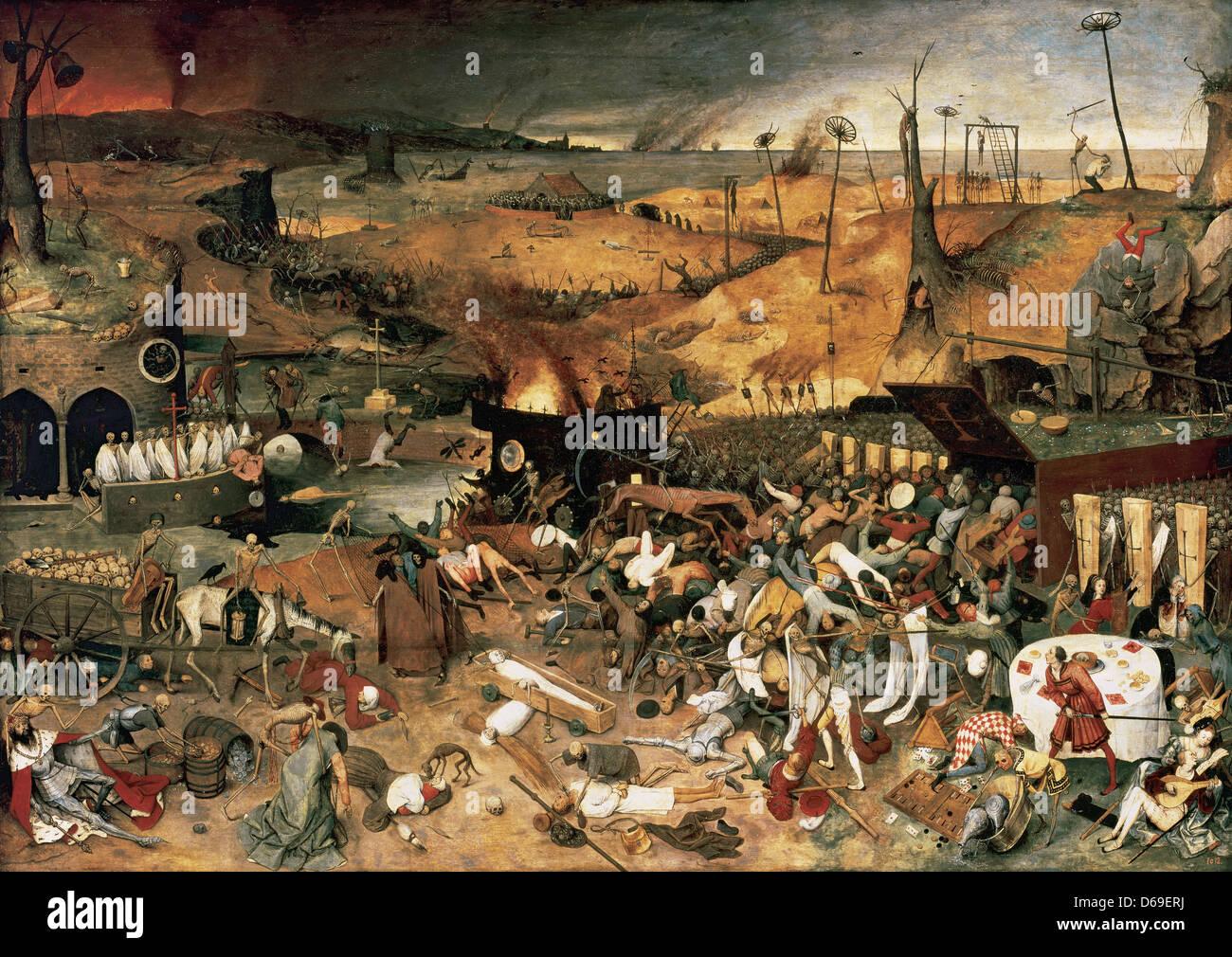 Pieter Bruegel il Vecchio (1525 - 1569). Il Trionfo della morte. 1562. Olio su pannello. Museo del Prado. Madrid. Immagini Stock