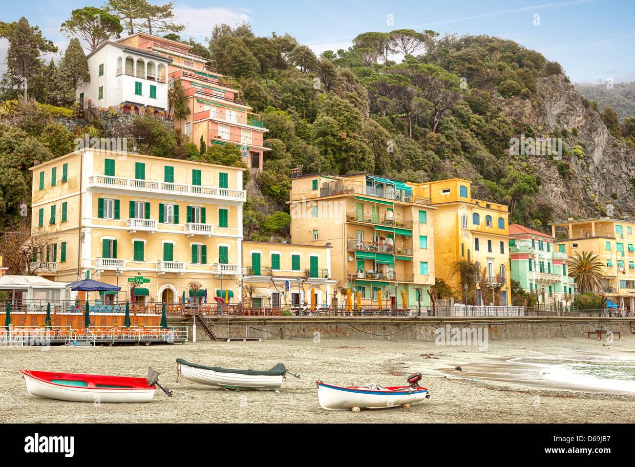 Monterosso al Mare, Cinque Terre Liguria, Italia Immagini Stock