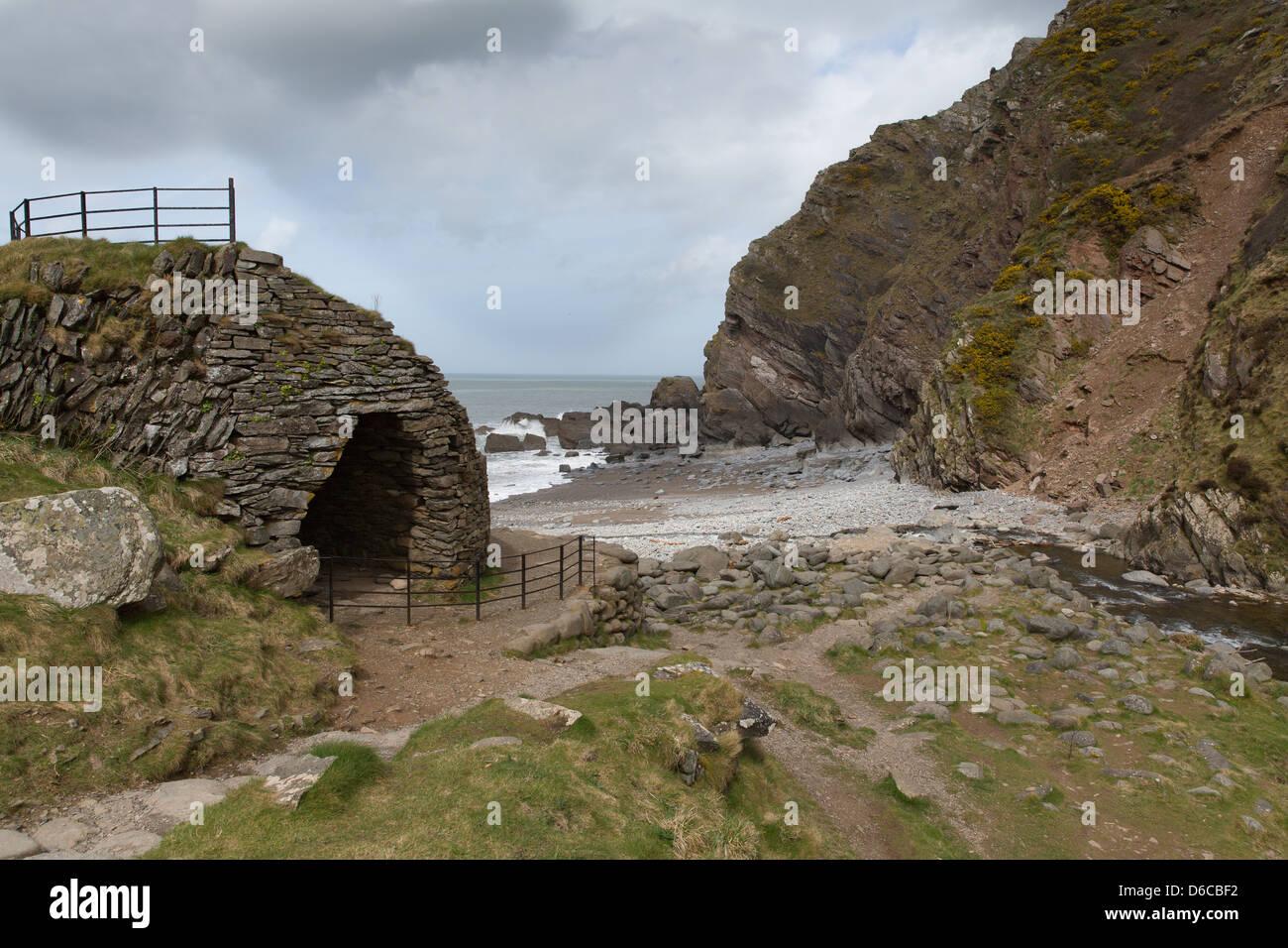 Heddon's Mouth Beach Parco Nazionale di Exmoor Devon Immagini Stock