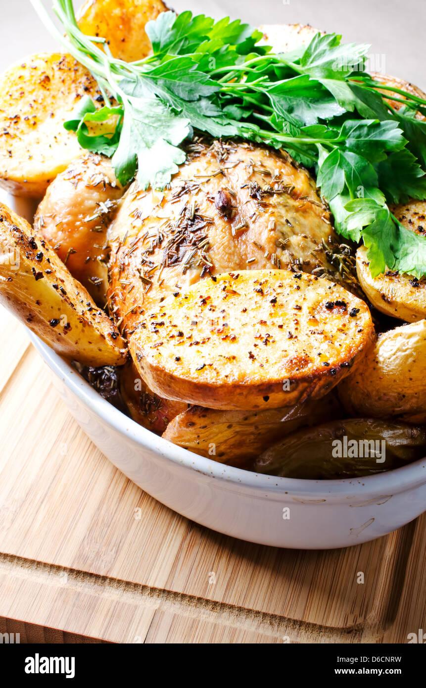 Forno di patate al forno Immagini Stock