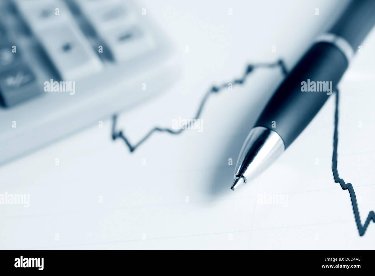 Indice azionario dynamics Immagini Stock