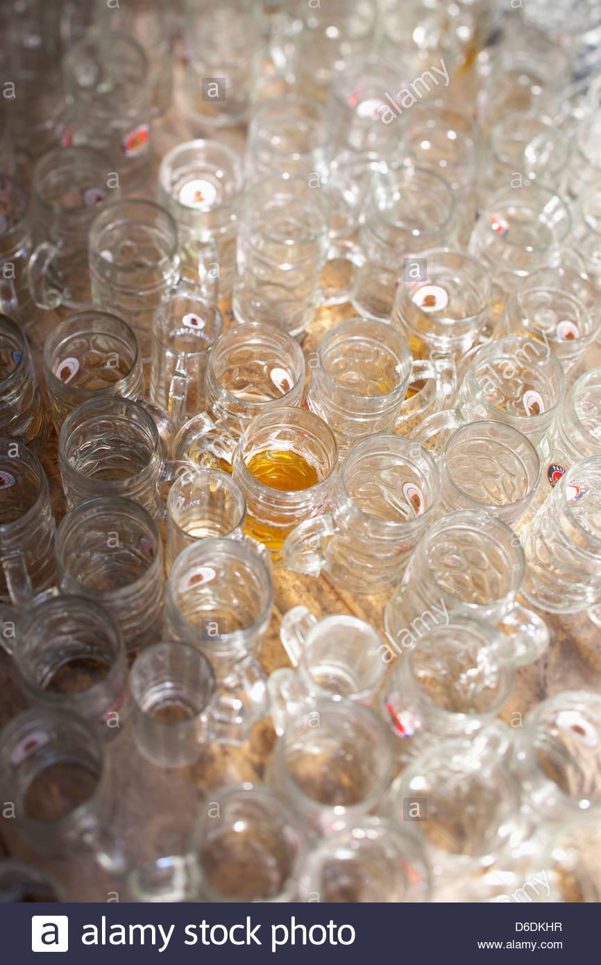 Oktoberfest litro boccali da birra Monaco di Baviera Germania Immagini Stock
