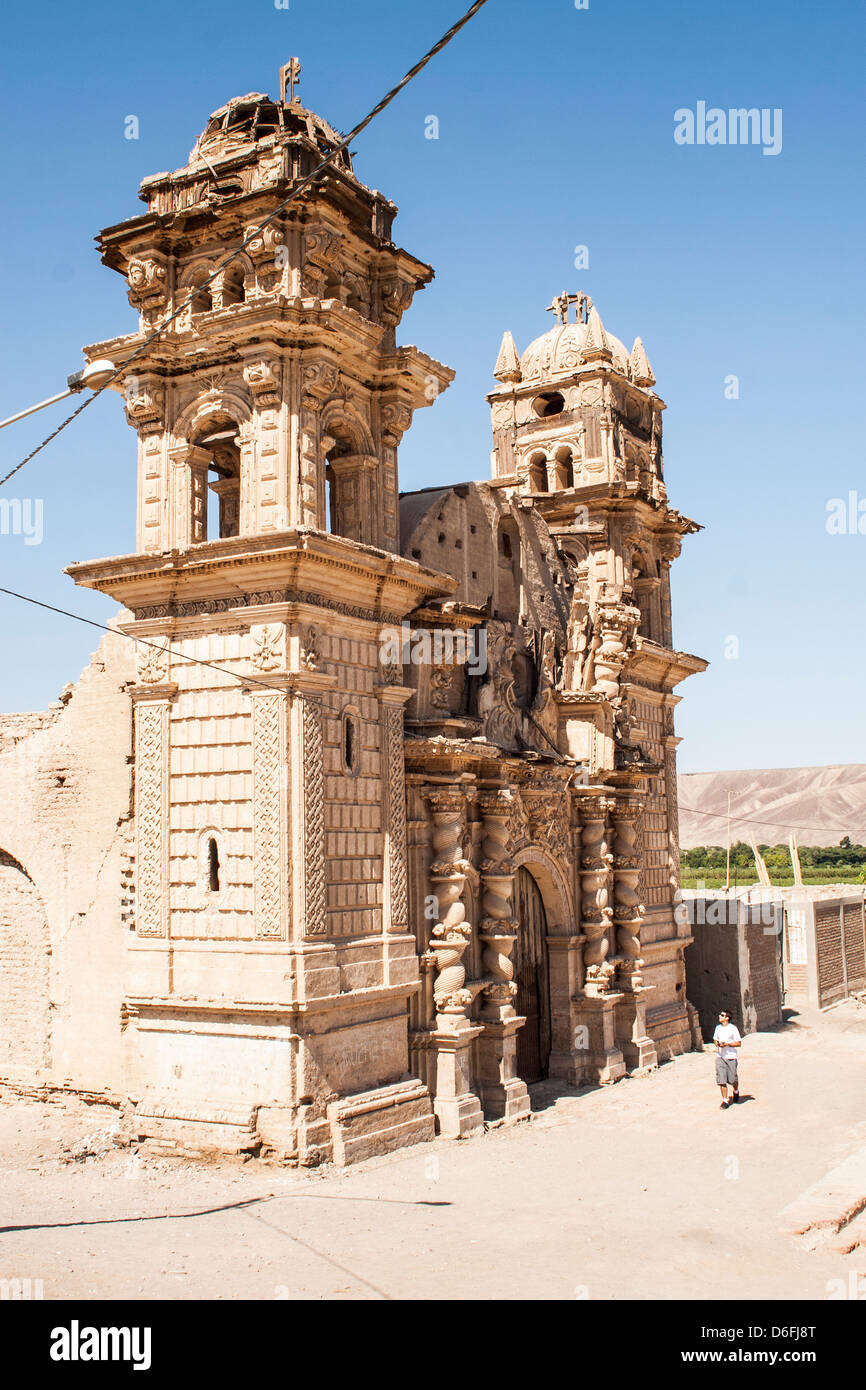 Chiesa di San José (Iglesia de San José), in El Ingenio district, costruita dai coloni spagnoli nel XVIII Immagini Stock