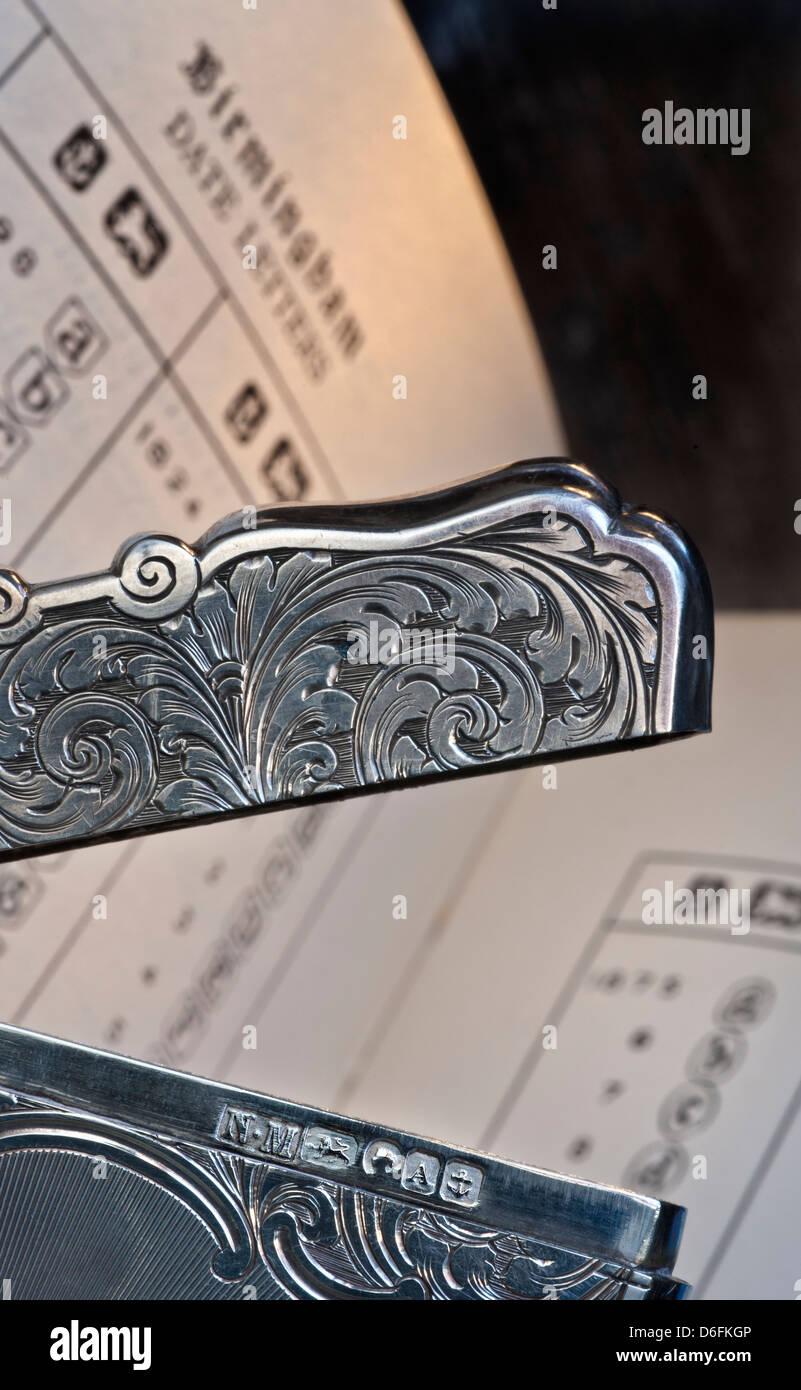 Datazione Birmingham argento segni distintivi