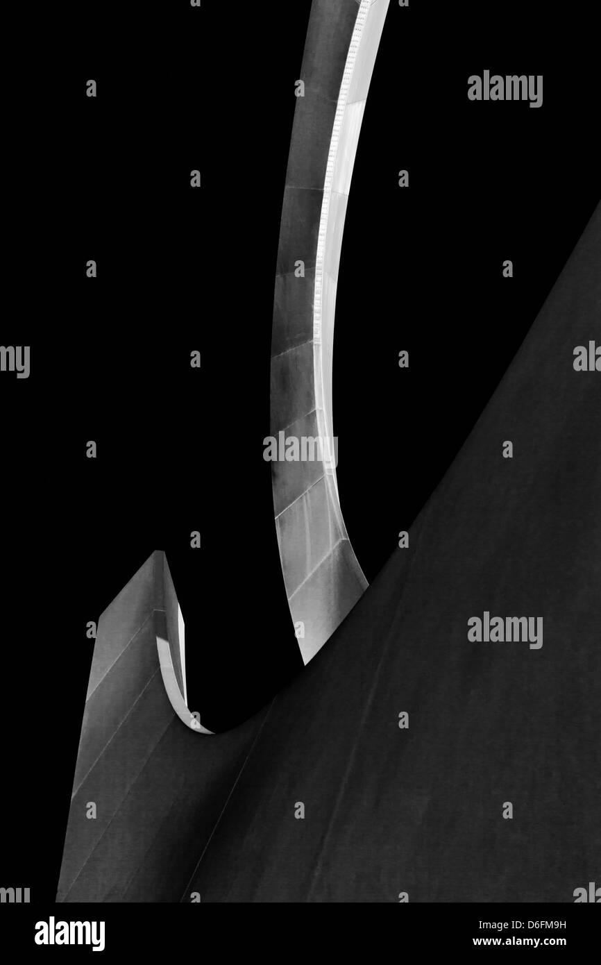 Bianco e nero abstract Immagini Stock