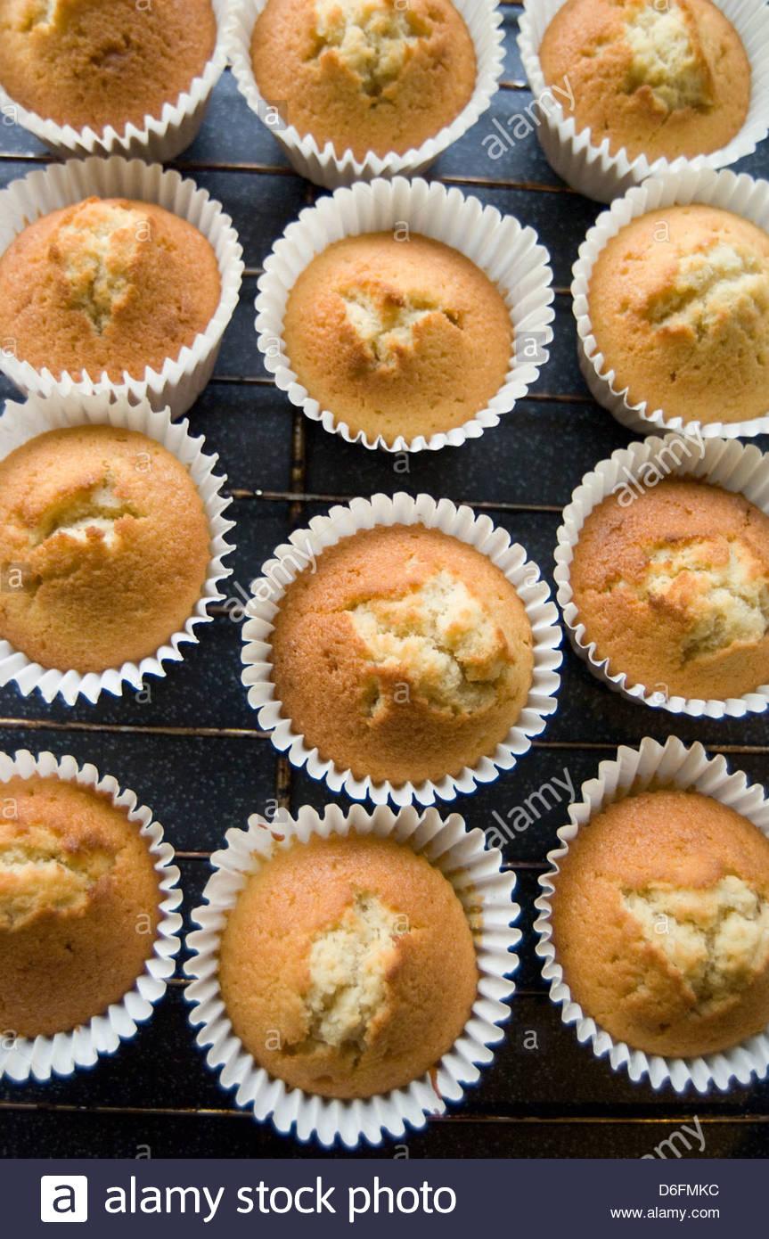 Le torte di fata/ tortine/ passo shot Immagini Stock
