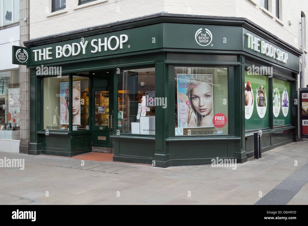 Un ramo di Body Shop, REGNO UNITO Immagini Stock