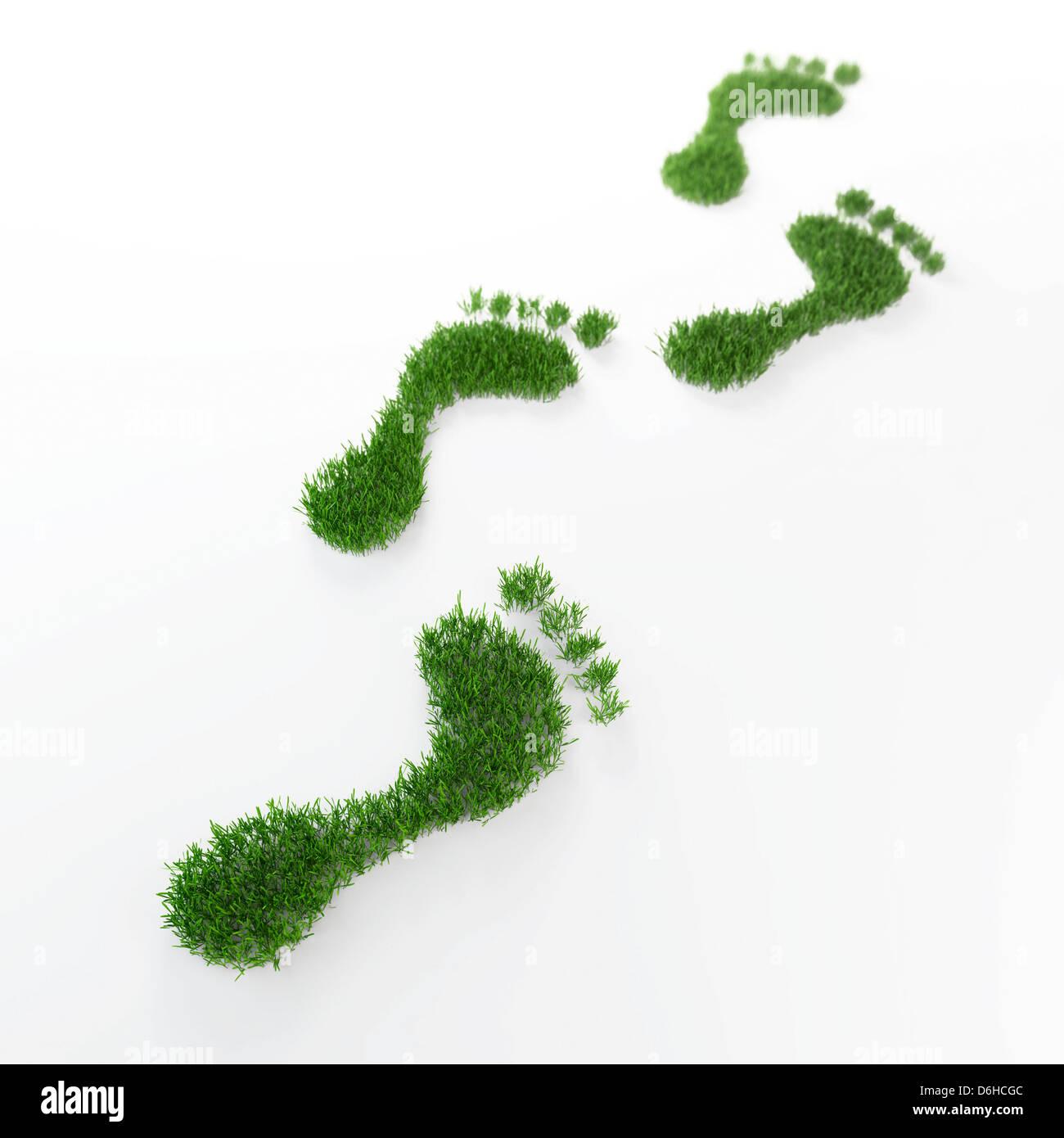 Impronta ecologica, opere d'arte concettuale Immagini Stock