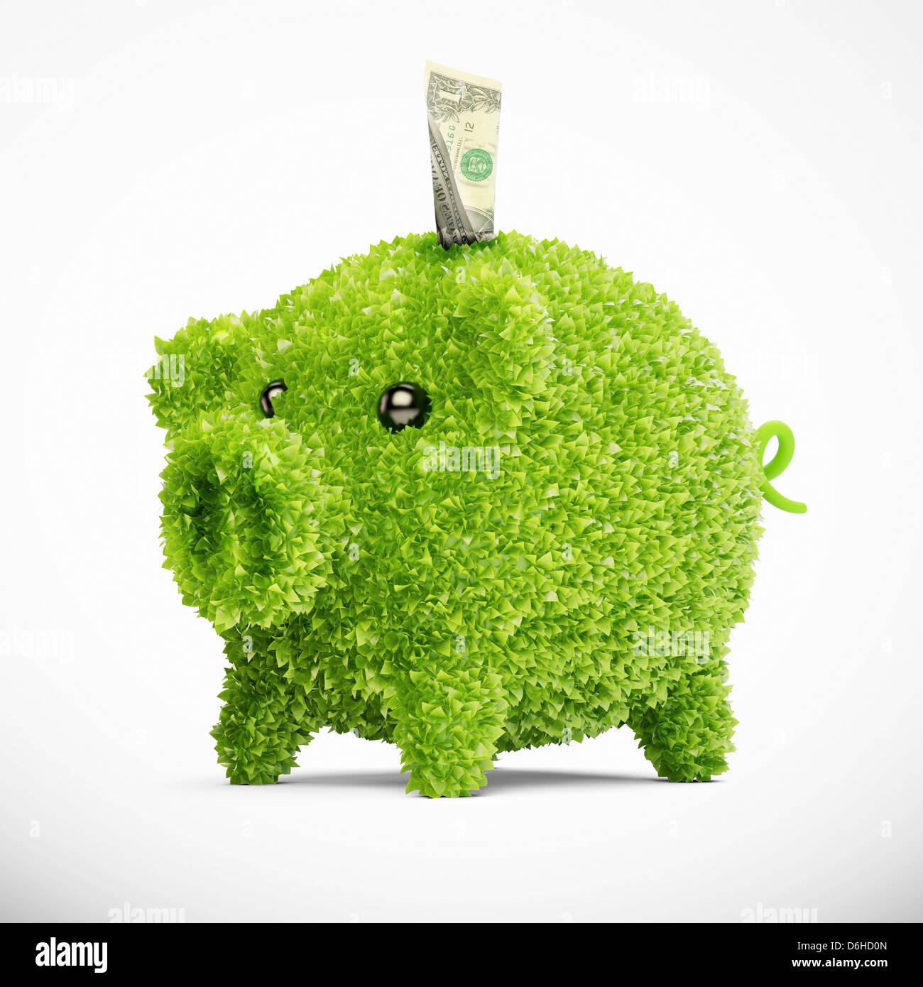 Gli investimenti verdi, opere d'arte concettuale Immagini Stock