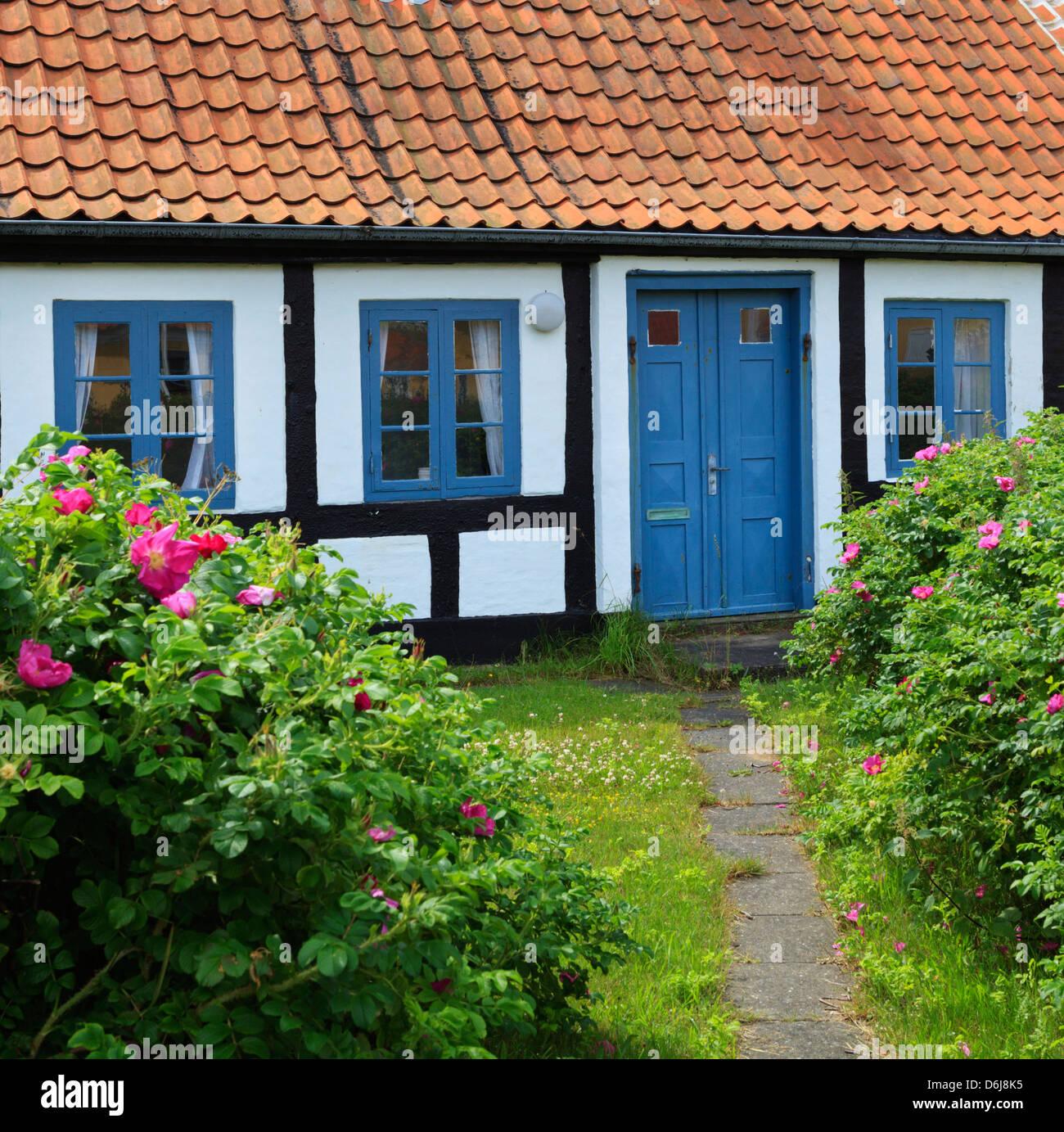 Tradizionale casa in legno e muratura, Gammel Skagen, nello Jutland, Danimarca, Scandinavia, Europa Foto Stock