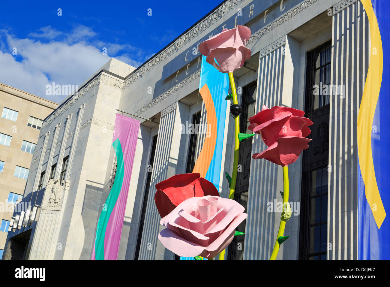 Frist Center per le Arti Visive, Nashville, Tennessee, Stati Uniti d'America, America del Nord Immagini Stock