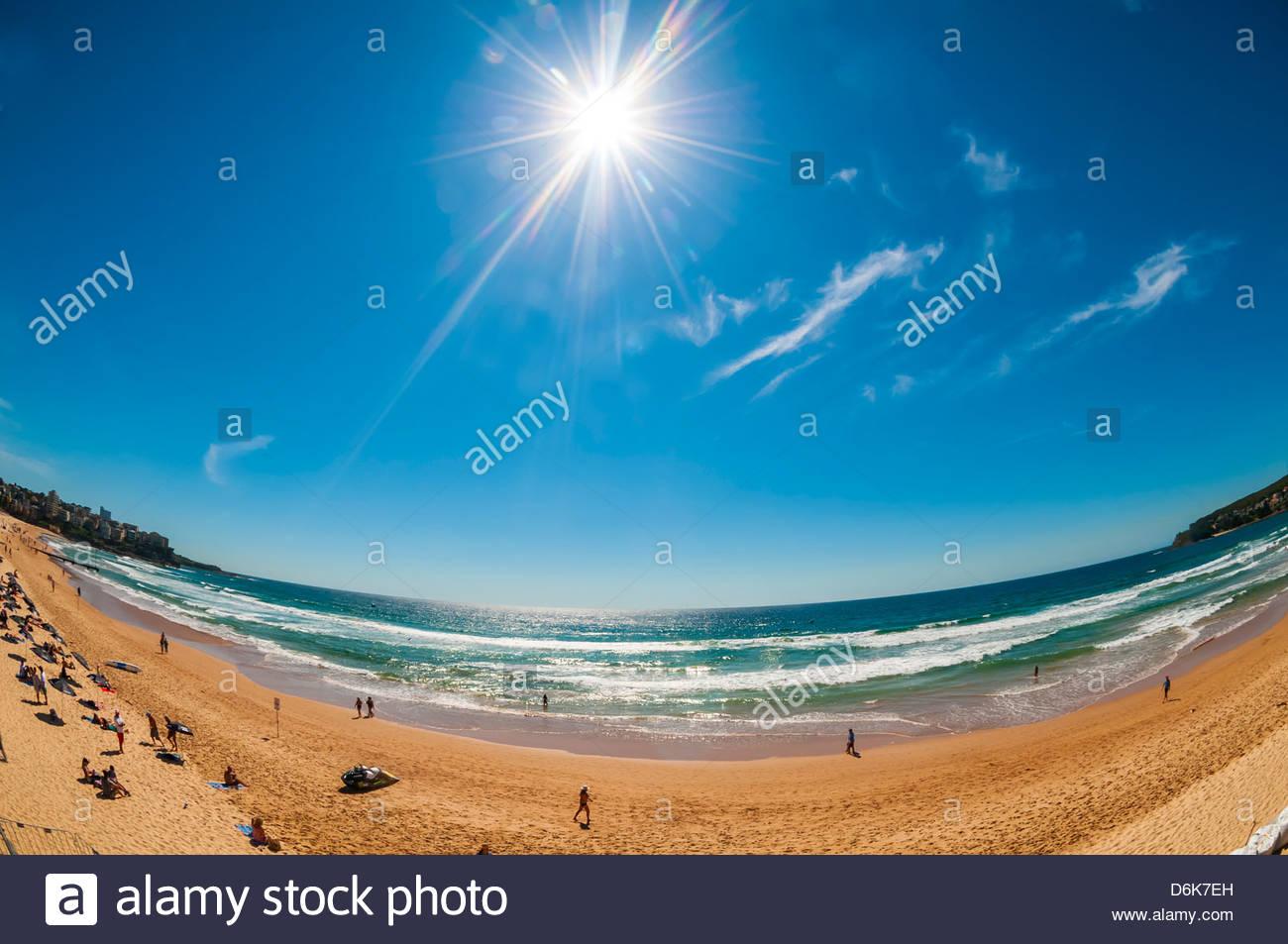 Manly Beach, Sydney, Nuovo Galles del Sud, Australia. Immagini Stock