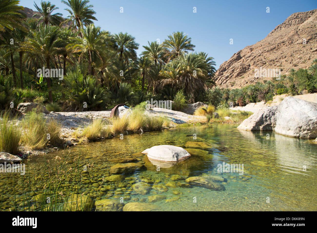 Wadi Bani Khalid, Oman, Medio Oriente Immagini Stock