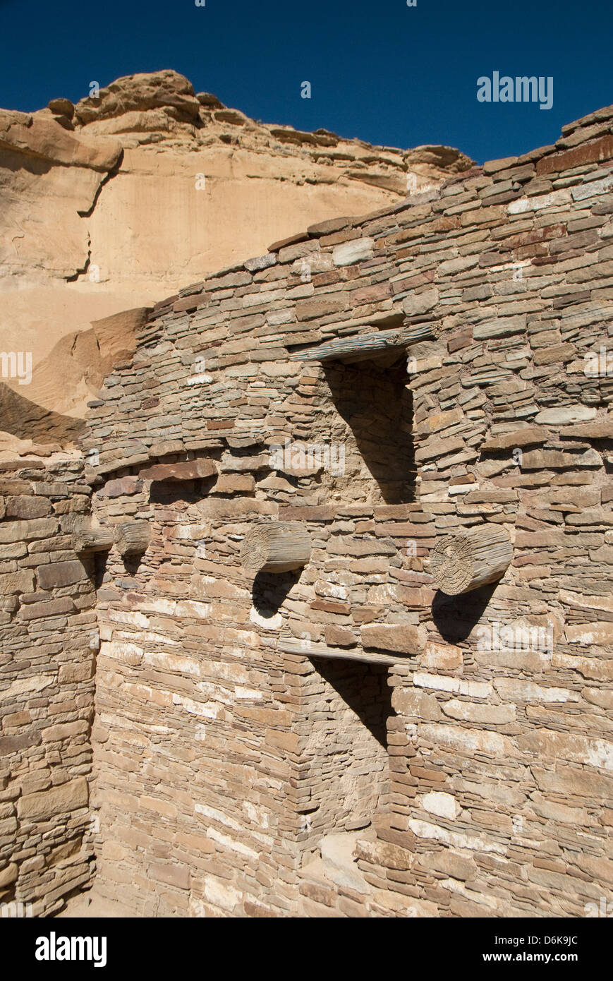 Cultura Chaco Parco storico nazionale, sito Patrimonio Mondiale dell'UNESCO, Nuovo Messico, Stati Uniti d'America, Immagini Stock